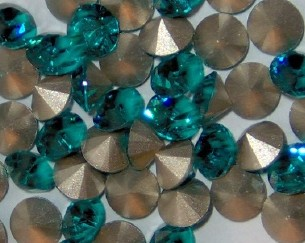 Swarovski 1028 Blue Zircon 2mm pp14 10 Pc.