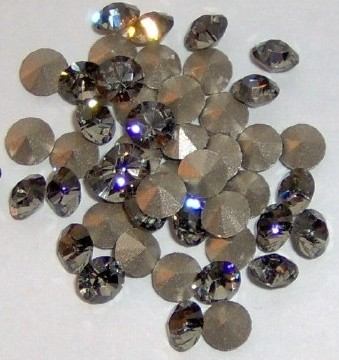 Swarovski 1028 Black Diamond 2mm pp14 10 Pc.
