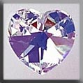 Mill Hill Crystal Treasures - Medium Heart 13045