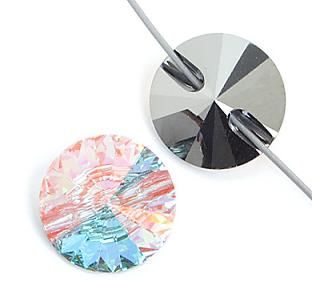 Swarovski 3015 Crystal AB Button 27mm 1 Pc.