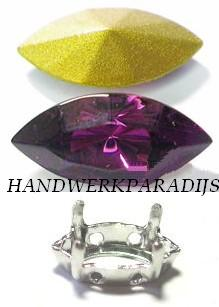 Swarovski 4200/02 Amethyst 15x7mm +Holder 1 Pc.