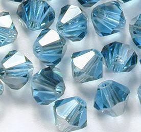 Swarovski 5301 Aquamarine Satin 3mm 10 Pc.