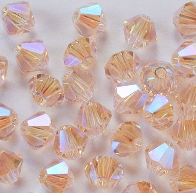Swarovski 5301 Light Peach AB2x 4mm 10 Stuk
