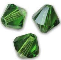 Swarovski 5328 Fern Green 4mm 10 Pc.