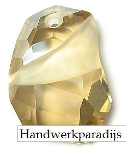 Swarovski 6191 Divine Rock Crystal Golden Shadow 27mm