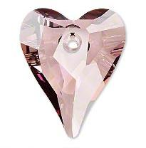 Swarovski 6240 Wild Heart Crystal Antique Pink 27mm