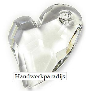 Swarovski 6261 Devodet 2 U Heart Crystal 27mm