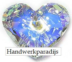 Swarovski 6264 Truly in Love Hart Crystal AB 28mm
