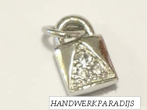 Charm Lock Sterling Silver 925 1 Pc.