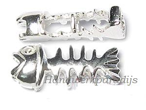 Fish Bone 13.5x5.5mm Sterling Silver 1 Pc.