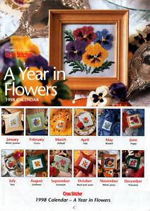 Cross Stitcher's Calendar 1998  A Year in Flowers