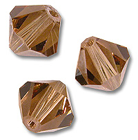 Swarovski 5301 Light Smoked Topaz 6mm 5 Pc.