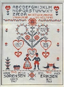 Wedding Sampler Cross Stitch, Billede OOE 51081 Original