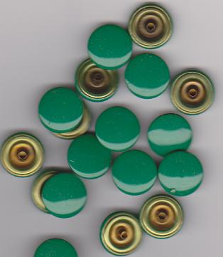Prym Plastic caps 14.5mm green piece ca.420